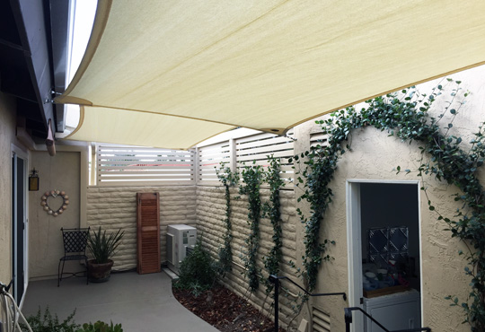 The jacob s center outdoor amphitheater shade sails for Shade cloth san diego